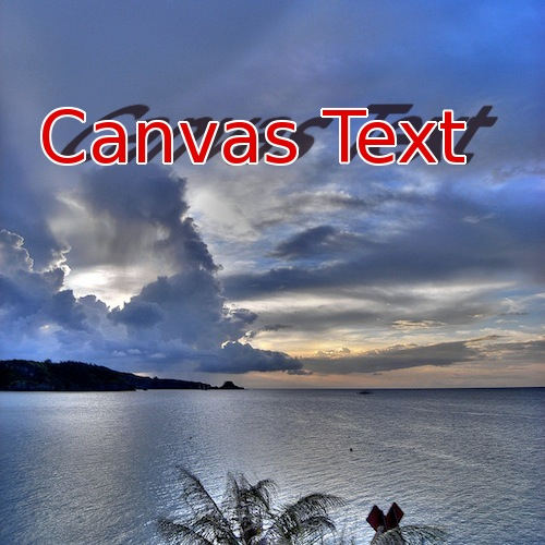 Canvas Text Image