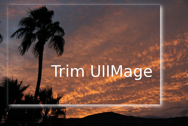 Trim UIIMage Sample