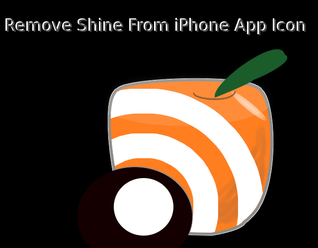 Remove Shine from iPhone App Icon