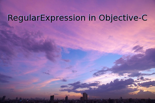 RegularExpression in Objective-C