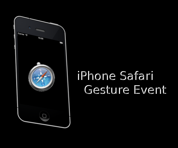 iPhone Safari gesture events